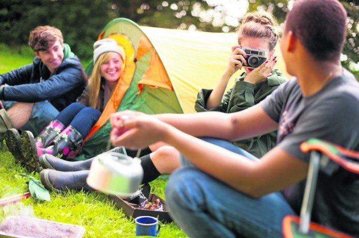 с палатками в крым