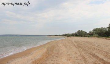 пляж в новоотрадном