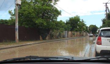 ремонт дороги в Оленевке